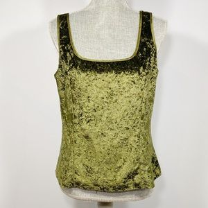 Victoria's Secret Vintage Velour Green Tank Large